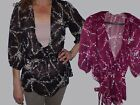 Y Jessie NY Floral Sheer Gauze V neck blouse in Burgundy or Black (837)