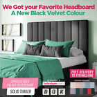 Upholstered Bed Head Headboard Velvet Fabric Wooden Frame Double Queen King Size