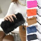 Fashion Women's Elegant Clutch Bag Faux Fur Handbag Wallet Candy HE8Y 01