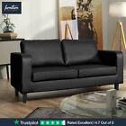 New Faux Leather Box Sofa Set 3+2+1 Black Brown Grey 3 Piece Suite Amazing Value