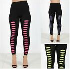 Ladies Womens Party Pants Ripped Lace Stretch Punk Clubbing Fashion Leggings