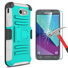 For Samsung Galaxy J3 Emerge/Prime/Luna Pro Case Kickstand Clip+Screen Protector