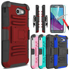 For Samsung Galaxy J3 Emerge/Prime/Luna Pro Hybrid Case Stand+Screen Protector