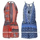 Hot Girls Clubwear Trousers Jumpsuit Bodycon Casual Floral Print Playsuit New
