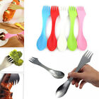 3 in 1 Stainless Spork Spoon Fork Cutlery Utensil Combo Camping Outdoor Kitchen