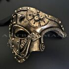 masquerade masks prom - Steampunk Phantom Half Face Halloween Masquerade Prom Costume Party Masks