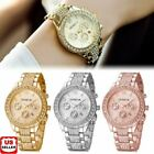 Jewelry Watches - Geneva Luxury Women's Girl's Crystal Stainless Steel Quartz Analog Wrist Watch 1