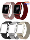 For Apple Watch Series 5/4/3/2/1 Milanese Stainless Steel Watch Band Strap +Case image