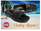 NEW SHOE PLACE Mens  Summer Slippers Office Slip-on Shoes Black 2707 n_O