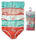 Girls PACK OF 5 Coral/Mint Stars Briefs Knickers Underwear Pants 2 to 13 Years