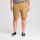 Merona Mens Flat Front 100% Cotton Cargo Shorts PICK YOUR SIZE & COLOR