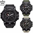Mens Military Watch by SMAEL, Meters 50 WR Analog Digital Alarm Army Sport Watch image
