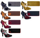 Ruby Shoo Matching Ashley Shoes & London Bag 3-9 Mustard Wine Teal Navy Ochre
