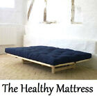 Osaka Queen Futon Mattress 13 cm 5 inch All Natural cotton 7 Colour choice