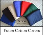 Futon Mattress Cover Queen 5 inch 13 cm 7 Colour Choice Natural Cotton