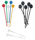 "7"" Assorted Colour Disc Cocktail Stirrers Swizzle Drinks Mixer Sticks Drink Bar"