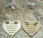 PERSONALISED DOG CAT PET REMEMBRANCE MEMORIAL TRIBUTE SIGN HEART PLAQUE GIFT