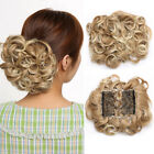 LARGE Comb Clip In Curly Hair Piece Chignon Updo Hairpiece Extension Hair Bun A4