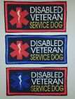 Embroidered Sew-On Patch- 3 Styles Here - DISABLED VETERAN SERVICE DOG
