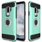 For Samsung Galaxy S9 Plus Hybrid Armor Protective Ring Phone Cover Hard Case