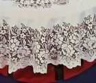 "Lace  Square Cream Tablecloth. 120cmx120cm or 48""x48"""