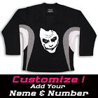 Joker Multi Color Hockey Practice Jersey Black - Optional Name And Number