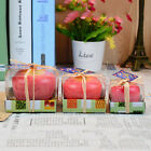 Christmas Red Apple Shape Fruit Scented Candle Decoration Greet Gift 3 Size Hot