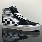VANS SK8 HI MIX CHECKER BLACK WHITE TRAINERS