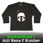 Boba Fett Star Wars Solid Black Hockey Practice Jersey Optional Name