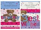 FRIEND BIRTHDAY CARD 1ST P&P 2 DESIGNS SPECIAL FRIEND WONDERFUL FRIEND