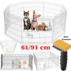 8 Panel Pet Puppy Playpen Cage Dog Training Whistle Lead Leash Hair Comb Brush