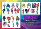 TROLLS temporary fake childrens tattoos ALL CHARACTERS waterproof last 1 WEEK+