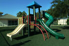 Playground Rubber Chippings Kit including membrane, pegs 200 kilos (10m2)