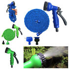 Latex 25 50 75 Feet Expandable Flexible Garden Water Hose with Spray Nozzle
