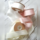 7,13,25,30mm 100% Silk Ribbon Dyed & Undyed Wedding Pink, Ivory,White, Bouquet
