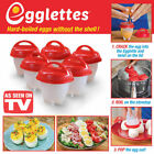 Egglettes Egg Cooker Hard Boiled Eggs without the Shell 6 Egg Cups Seen On TV
