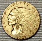 1927 $2.50 Indian Head Gold Coin * Lovely Quarter Eagle Beauty * FREE SHIPPING