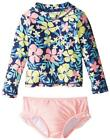 Carter's Big Girls Floral Two-Piece Rashguard Swim Set Size 12 $40
