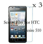 3 Glossy Matte LCD Screen Guard Protector Film Cover Skin For HTC Desire 510
