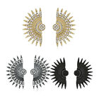 Yellow Gold Platinum Plated Earrings Drop Dangle Stud Clasp L828 image