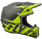 Fly Racing 2018 F2 Carbon Fracture Helmet Matte Grey / Hi-Vis 73-4170