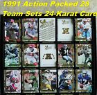 1991 Action Packed TEAM SETS _ Hi-Profile Sculptured 24-Karat Gold Stamped Cards $2.5 USD