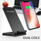 QI Wireless 10W Fast Charger Charging Stand Holders For iPhone X iPhone 8/8 Plus
