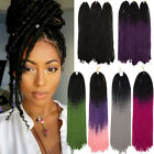 black red purple hair - Faux Locs Braids Ombre Dip Dye Crochet Braiding Hair Extensions As Human Hair AP