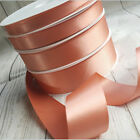 7,10,25,35mm Rose Gold Satin Ribbon. Berisfords Wedding Invites Bouquet Bow