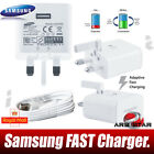 GENUINE Samsung Galaxy S6 S7 Edge Fast Charger Mains Travel Adapter & USB Cable