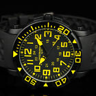 INFANTRY Mens Analog Wrist Watch Rotating Bezel Sport Army Military Black Rubber image