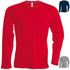 KARIBAN MENS SLIMFIT SLIM FIT PLAIN LONG SLEEVE CREW NECK T-SHIRT S-3XL KB359