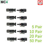 5 10 20 pairs MC4 30A Male Female M/F Wire PV Cable Connector Set Solar Panel US