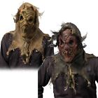 Scarecrow Scary Adult Mask for Mens Halloween Costume Faux Burlap Over Head